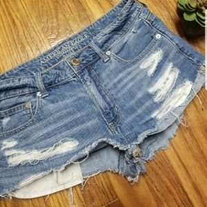 American eagle Tomgirl shorties jean shorts